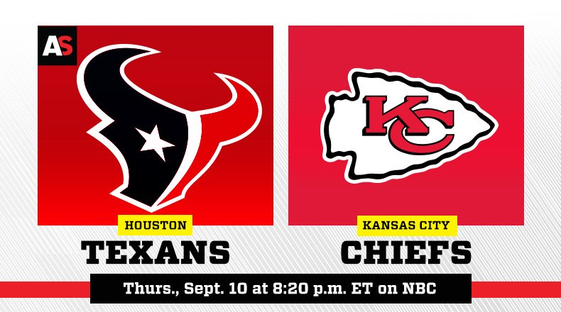 The Houston Texans Face The Kansas City Chiefs On The Season Premiere Of Sunday Night Football On Nbc Programming Insider