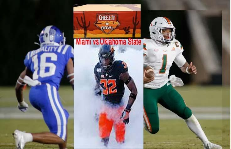 How to watch Cheez-It Bowl live: Stream Miami vs Oklahoma State Reddit Free Online College