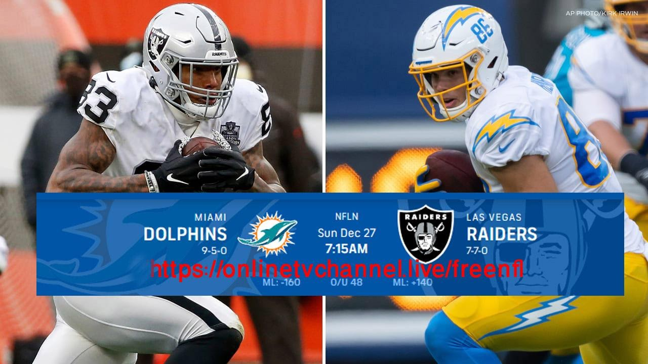 Dolphins vs Raiders Live Stream Free on Reddit: How to watch NFL Week 16 Top Games online from