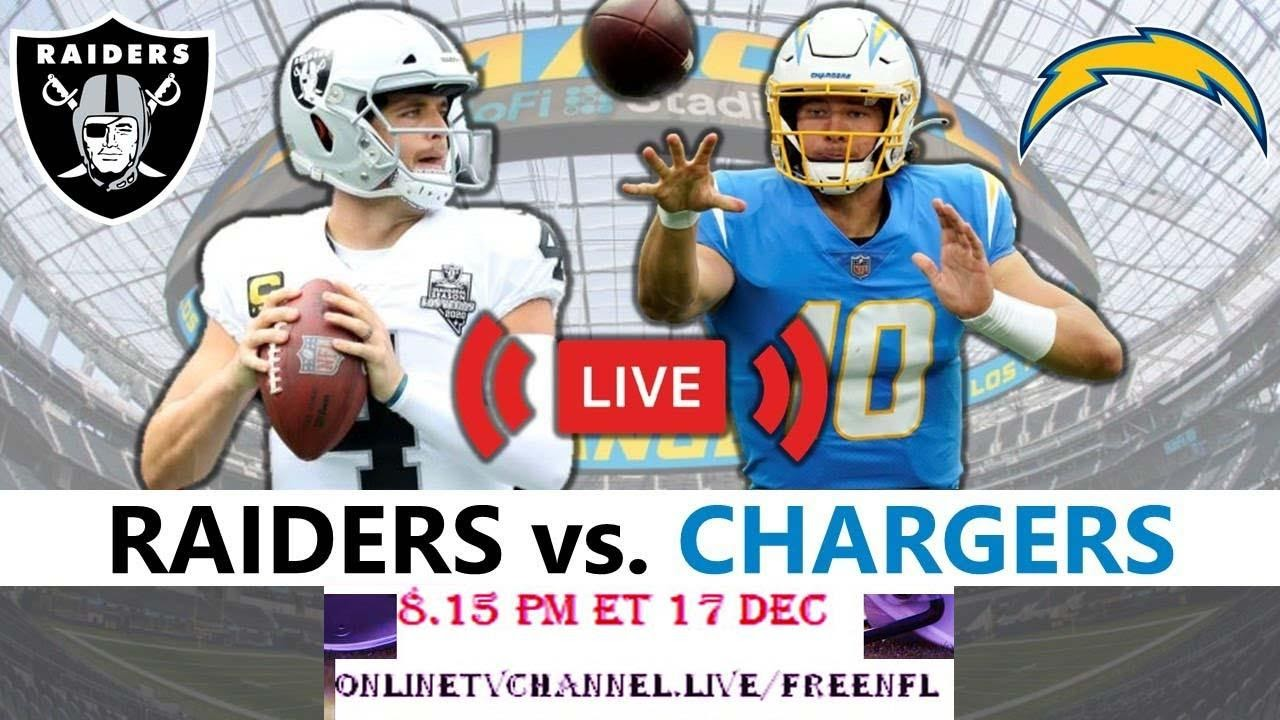 Chargers Vs Raiders Live Stream Free NFL Reddit Game